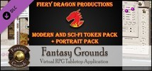 Fantasy Grounds - Fiery Dragon Modern & Sci-Fi Token and Portrait Pack