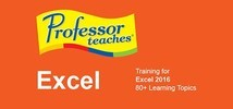 Professor Teaches Excel 2016