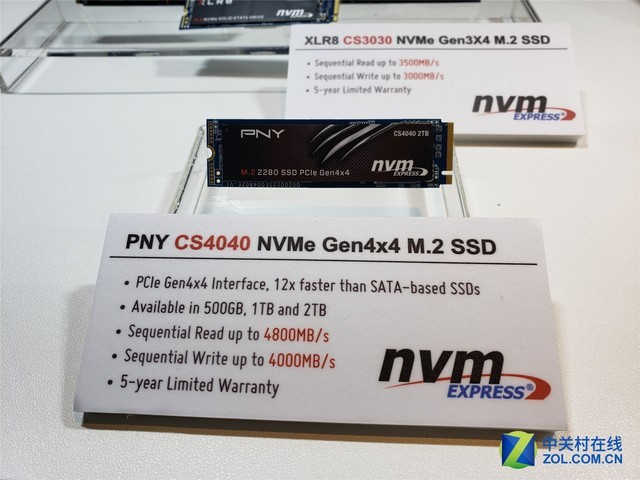 支持PCIE4.0 PNY旗舰CS4040亮相COMPUTEX