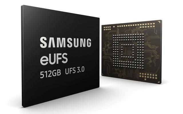 三星量产512GB eUFS 3.0芯片 全球首发