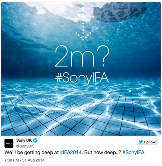 霸气海报造势索尼Z3 防水功能彻底无敌了