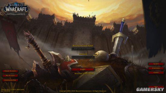 魔兽世界8.0登录界面曝光 重回艾泽拉斯