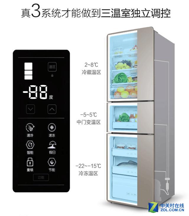 经济实用健康之选 TCL三门冰箱十一钜惠
