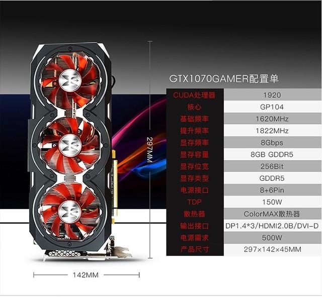 颜值与性能并存 影驰GTX 1070售3299元