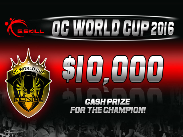 芝奇2016第三届世界杯超频大赛正式开跑